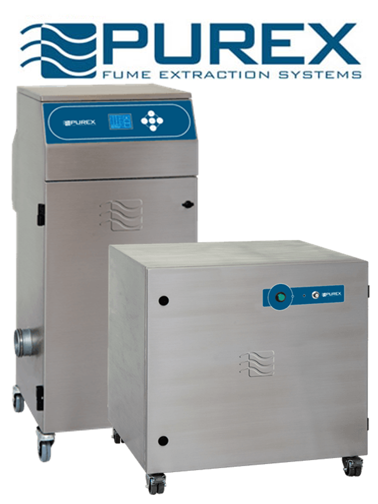 Purex laser fume extractor systems
